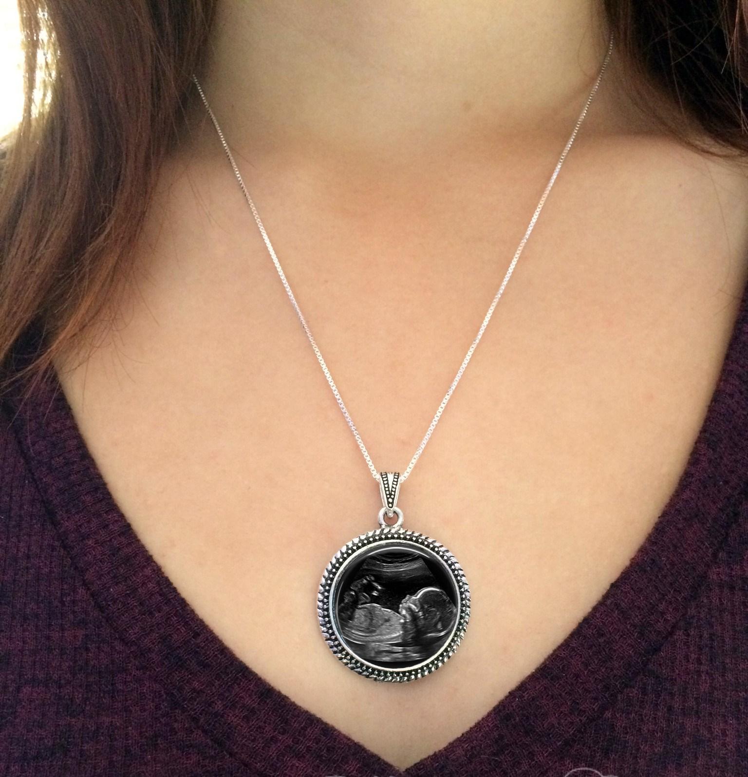 Custom sonogram necklace mother nurture ultrasound home gift ideas custom sonogram necklace sonogramonmodel negle Image collections
